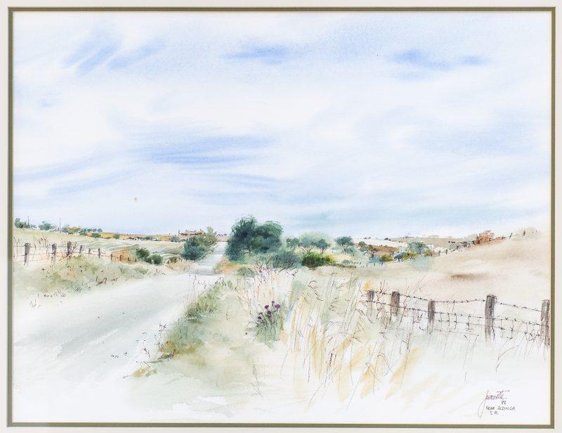 #51 Aldinga - Jeanette McLeod  |  Watercolour  |  75x89x2  |  1989
