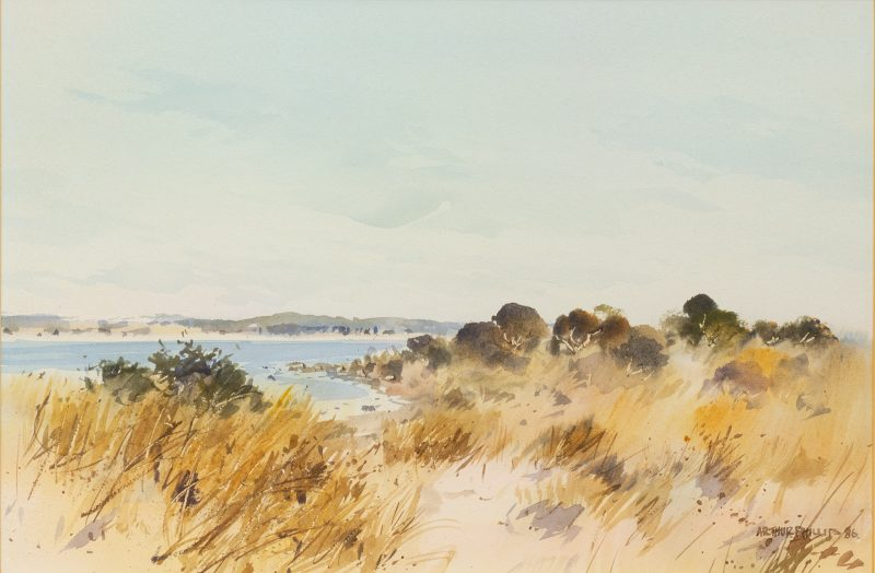 #40 Coorong 2 - Arthur Phillips  |  Watercolour  |    61x77x3  |  1987 (LEASED)