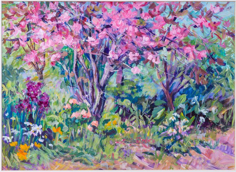 #38 Crabapple Blossom - June Colligan  |  Mixed Media |  80x98x5  |  1987