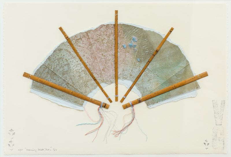 #50 Morning Mist, Fan - Valerie Georgeson  |  Mixed Media  |  56x73x3  |  1989