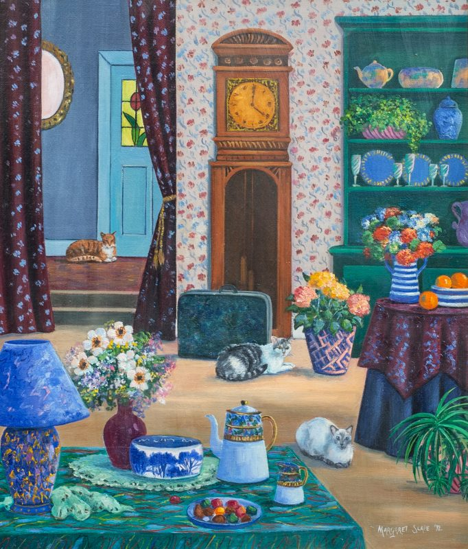 #66 Interior No 1 - Margaret Slape  |  55x59x4  |  1993
