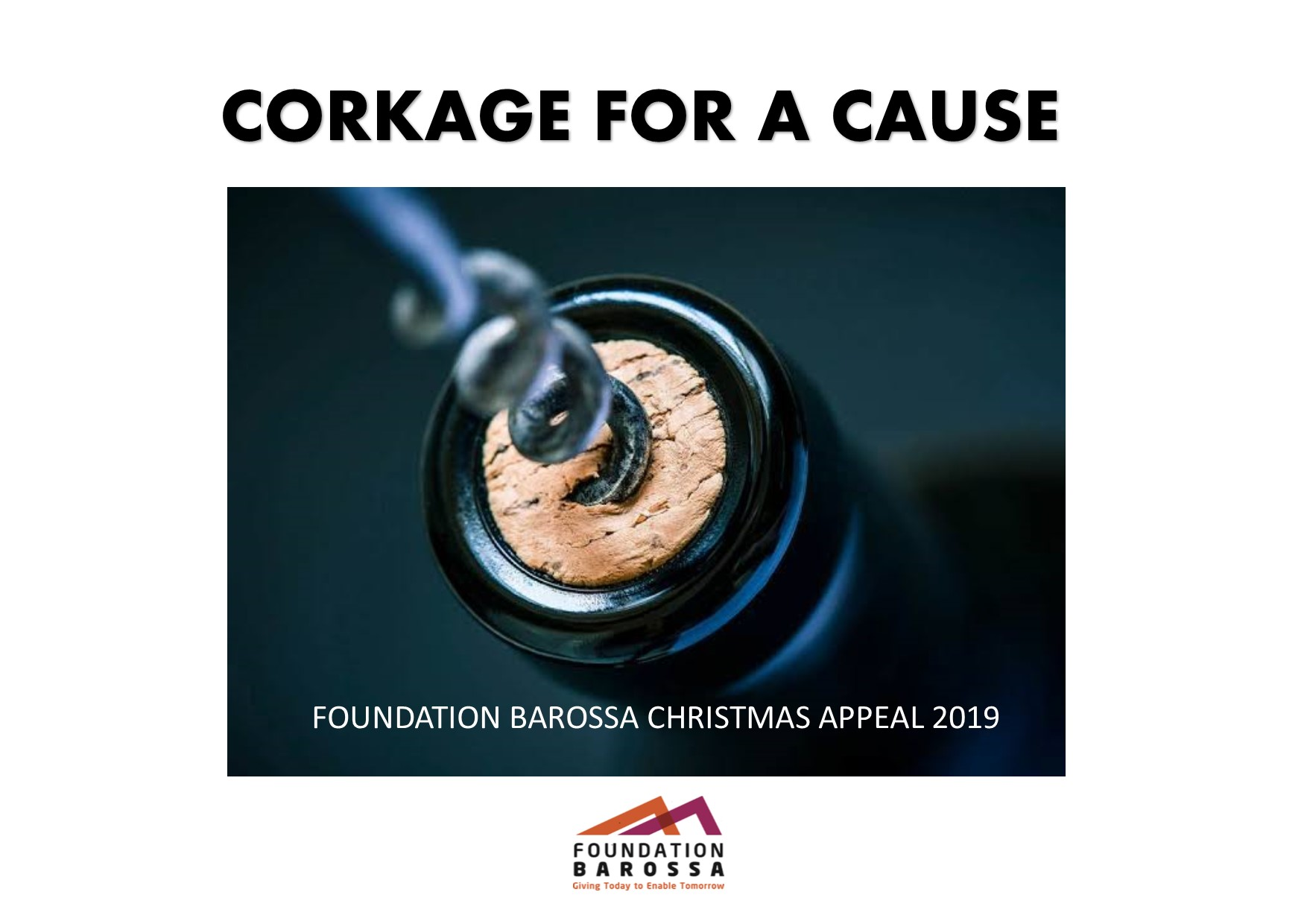 Corkage for a cause Barossa