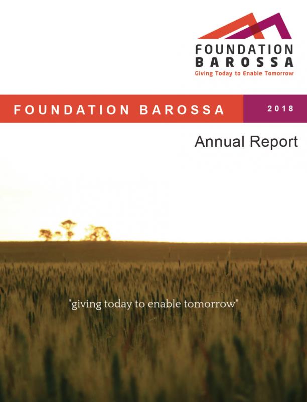 2018 Foundation Barossa Annual Report